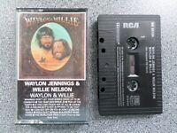 WILLIE NELSON & WAYLON JENNINGS - WAYLON & WILLIE - ALBUM CASSETTE TAPE