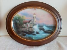Hopes Cottage Collector Plate Thomas Kinkade Scenes Of Serenity 1995 wood frame