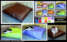 MED WATERPROOF FAUX LEATHER BEAN BAG FLOOR CUSHION BEANBAG SLAB SOFABED SOFA BED