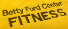 Betty Ford Center Fitness Vest Womens Medium Lands End Gold Fleece Yellow Rehab