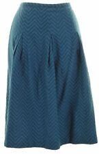 REISS Womens Pleated Skirt Size 12 W30 L24 Blue  KP05
