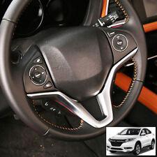 For Honda Vezel HR-V 16-18 Chrome Steering Wheel Panel Cover Trim Badge Insert