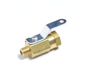 1/8 Npt Male to Female Brass 600 Psi High Pressure Mini Ball Valve