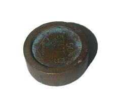 Vintage Jeweler Goldsmith 9 bullion Balance Weight Measurement Unit 50g  INDIA