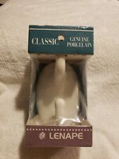 NOS LENAPE CLASSIC WHITE PORCELAIN DOUBLE ROBE WALL HOOK (1999)