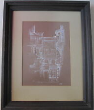 Joe Capozio~Middle 20th Century Artist~original Drawing~architectural