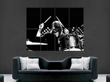 DAVE GROHL DRUMMING DRUMS  FOO FIGHTERS NIRVANA ART WALL PICTURE POSTER  GIANT