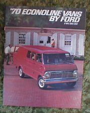 1970  Ford Econoline Vans E-100 E-200 E-300 Brochure 70