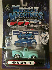 2001 MUSCLE MACHINES '40 WILLYS JEEP TRUCK DIE CAST 1:64