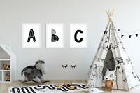 Scandinavian Letter Print / Nursery Ideas / Personalised Initial Typography
