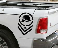 Metal Mulisha Skull Army Stripe Truck Bed Decal Decals fit Ram Chevy Ford GMC