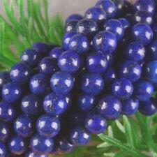 "8MM Lapis Lazuli Round Gemstones Loose Beads 15"" AAA+001"