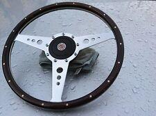 Mg Mgb Mgc wood steering wheel inc fixing boss 15 inch Fits Cars 1962-1968