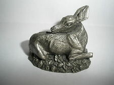 1981 June Lunger Pewter The Fawn Franklin Mint Woodland Animal Mini Figurine