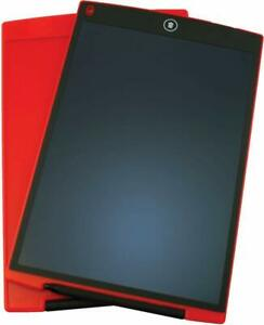 """Red 12"""" LCD Writing Tablet with Pen Drawing Board Art Craft Adult Kids"""