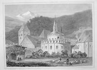 ITALY Neustift Abbey at Brixen near Bolsano - 1870s Original Engraving Print