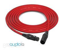 Canare Quad L-4E6S Cable | Neutrik Gold XLR-F XLR-M | Red 200 Feet | 200 Ft 200'