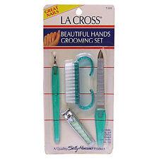 SALLY HANSEN MANICURE SET LA CROSS BEAUTIFUL HANDS GROOMING KIT 4-PCE NEW SEALED