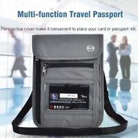 Travel Passport Neck Pouch Bag Holder Money Card RFID Blocking Neck Wallet New