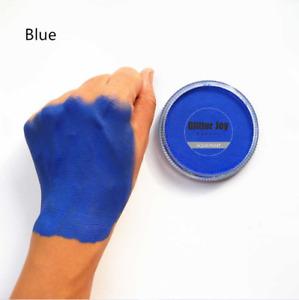 Blue Matte Face & Body Paint Pot Jar Festival Rave Makeup Water Based Pigment