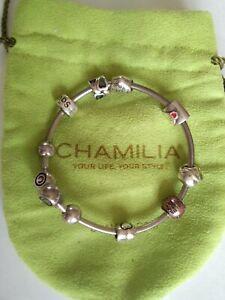 Chamelia bracelet & 7 charms