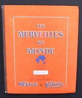 Les merveilles du Monde volume 3. Album d'images Chocolat Nestlé et Kohler 1956