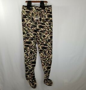 Snowbee Pro Neoprene Suspender Chest Waders Camouflage Size Large