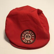Vintage Iron City Beer Golf Style Snap Front Mens Hat Red Rare