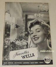 Revue 1955 Nouvelles WELLA N°11 Produits & Accessoires pour les cheveux Vintage
