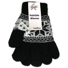 Gants et moufles noir en acrylique pour femme