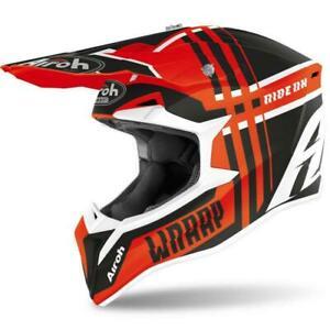 Airoh Wraap Broken Helmet Off Road Motorcycle Motorbike Motocross Enduro MX