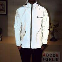 Men's Waterproof Super Reflective Jacket Motorcycle Night Safe Jacket/Trouser