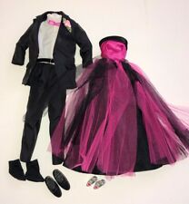 BARBIE & KEN FORMALS Custom PROM DATE Barbie Evening Gown & Mattel TUXEDO_Cute!