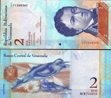 VENEZUELA 2 BOLIVARES 2012 BANCONOTA FDS UNC MOLTO RARA DA COLLEZIONE