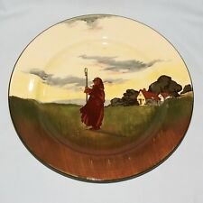 RARE Royal Doulton seriesware PLATE Farmworkers Silhouette Shepherd D3356 #1