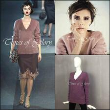 Nouveau Louis Vuitton rose V profond oversize laine grosses mailles pull sweater Taille S