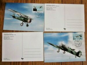 AVIATION AIRPLANES 1998 SET LATVIA ANBO 41 & ANBO VIII PLANES 2 FD MAXI CARDS