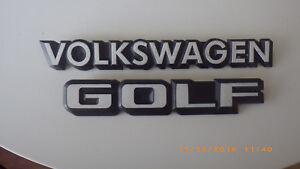Schriftzug, Emblem, Abzeichen VW Golf II - Volkswagen Golf - weiss