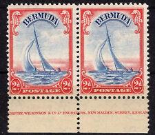 G.BRITAIN 1940 BERMUDA IMPRINTED PAIR SG#112a  MNH** OG VF