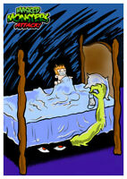 Masked MONSTERS ATTACK! #9 UNDER THE BED Wax Digital TRADING CARD like topps gpk