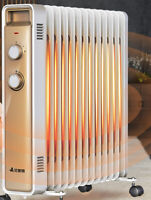 2200W ELECTRIC Oil Heater 13 FIN Thermostat Control