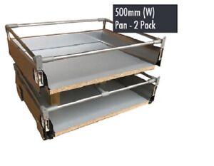 B&Q Premium Soft Close Drawers Drawer 2 Pan Pack Fits A 500mm  18mm Cabinet