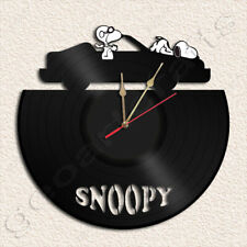 Snoopy Wall Clock Vinyl Record Clock Home Decoration