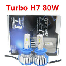 Turbo COB H7 T1 80W 18000LM Canbus LED Lamp Headlight Kit Car Bulbs 6000K White