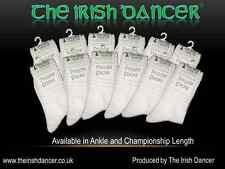 Irish Dance Poodle Socks Champ Length - 12 Pack - OPTIC WHITE