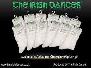 Irish Dance Poodle SocksULTRA LOW Ankle Length - 12 Pack - OPTIC WHITE