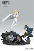 X-Men vs Sentinel Diorama Beast and White Queen Marvel Statue Sideshow
