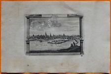 VAN DER AA Gravure originale c1725 VUE DE BLOIS Blésois Loir-et-Cher Loire îlot