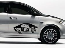 2x VANS OFF THE WALL LOGO SKATE SURF VW CAN VAN VINYL DECAL STICKER TRANSFER