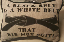 Black Belt Is A White Belt Sentimental Martial Arts Tapestry Word Throw Pillow